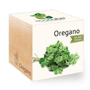 """Oregano im Holzwürfel mit Bio-Samen - """"Ecocube"""" - EcoCube"""