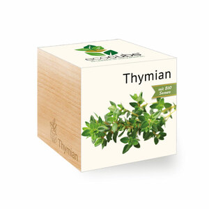 Thymian im Holzwürfel mit Bio-Samen - EcoCube
