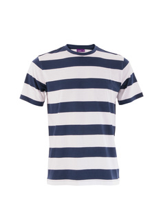 T-Shirt, Streifen-Shirt, Bio-Baumwolle marineblau/weiß 63713 - Living Crafts