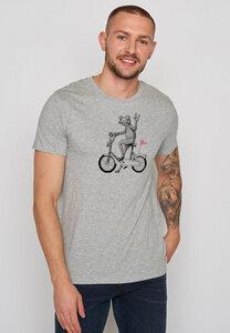 Herren Shirt 100% Biobaumwolle Bike Frog Guide - GreenBomb