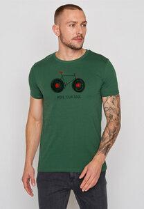 Herren Shirt 100% Biobaumwolle Bike Soul Guide - GreenBomb