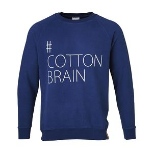Sweat with Cotton Brain Print - KnowledgeCotton Apparel
