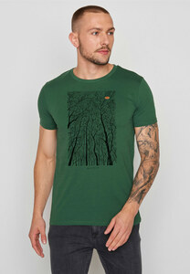 Herren Shirt 100% Biobaumwolle Nature Forest Peep Guide - GreenBomb