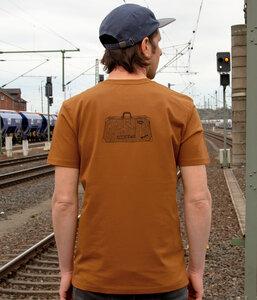 Reisekoffer T-Shirt für Herren in roasted orange - Cmig