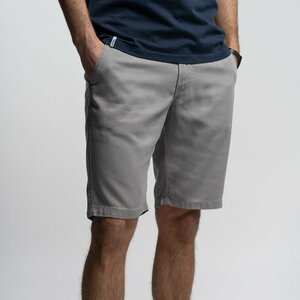 Shorts Herren - Tencel grau/schwarz - Vresh Clothing