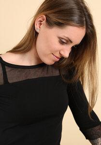 Damenshirt Tüll schwarz - Die rote Zora
