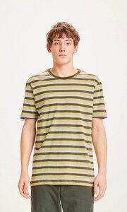 """Herren T-Shirt """"ALDER triple striped tee"""" - GOTS/Vegan, Forrest Night - KnowledgeCotton Apparel"""