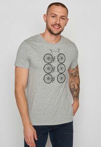 Herren Shirt 100% Biobaumwolle Bike Trio Guide - GreenBomb