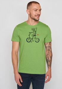 Herren Shirt 100% Bio Baumwolle Bike Frog Spice - GreenBomb