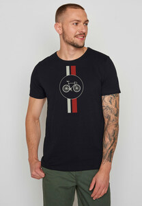 Herren Shirt 100% Bio Baumwolle Bike Highway Spice - GreenBomb