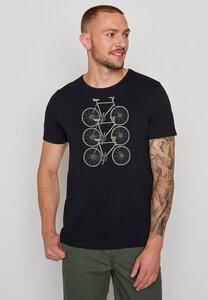 Herren Shirt 100% Bio Baumwolle Bike Trio Spice - GreenBomb