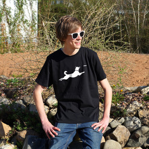 'Frisbee' Männer T-Shirt - shop handgedruckt