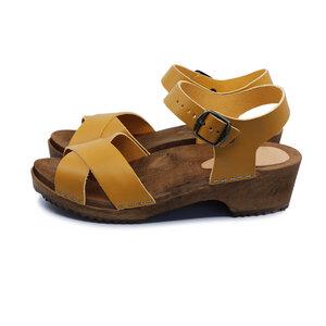 Mango-MÄRTA - schwedische Holz Clogs Sandale von me&myclogs - low heel - me&myClogs