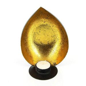 Teelichthalter aus Eisenblech Muschel gold - Mitienda Shop