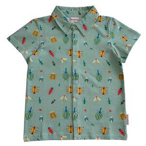 Kurzarm Polo-Shirt mit Insektenmotiv - Baba Kidswear