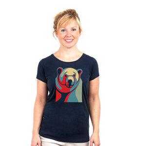 Polar Change - Frauenshirt bedruckt aus Biobaumwolle - Coromandel