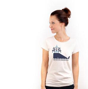 Whale - T-Shirt Frauen mit Print aus Biobaumwolle - Coromandel