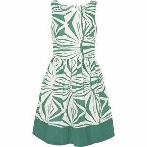 Bio Kleid - PARTY DRESS - Rays Sage Olive & Tropics Tangerine Orange - Global Mamas
