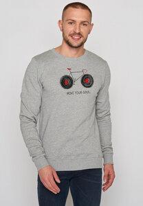 Herren Sweatshirt 100% Bio Bike Soul Wild - GreenBomb