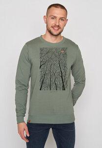 Herren Sweatshirt 100% Bio Nature Forest Peep Wild - GreenBomb