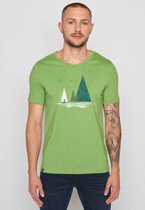 Herren Shirt 100% Bio Baumwolle Nature Lake Peak - GreenBomb