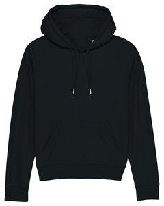 Schwarzer Frauen Basic Hoodie mit kleinem Logoprint - ilovemixtapes