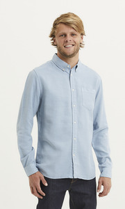 Hemd - LARCH regular fit garment dyed - aus Tencel - KnowledgeCotton Apparel
