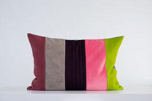 Dekokissen Alster Patchwork verschiedene Farben - Yasmine & Sarah