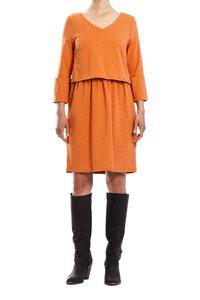 Kleid Orange geblümt - anzüglich organic & fair