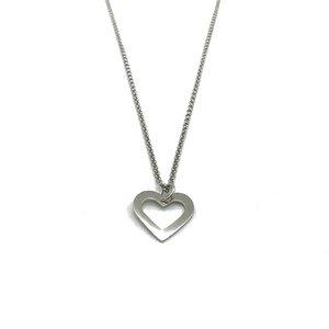 Halskette Herz rhodiniert - MUNICH JEWELS