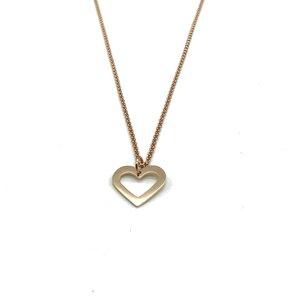 Halskette Herz rosévergoldet - MUNICH JEWELS
