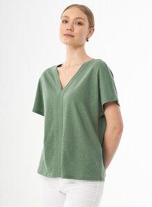 T-Shirt aus Bio-Baumwolle und Leinen - ORGANICATION