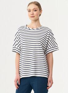 Gestreiftes T-Shirt aus Bio-Baumwolle und Leinen - ORGANICATION