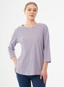 Gestreiftes 3/4-Arm Shirt aus Bio-Baumwolle und Leinen - ORGANICATION