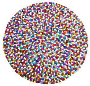 Filzkugelteppich 120 cm Durchmesser rund - NEPALAYA