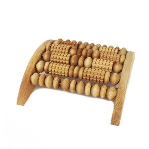 Fußmassage Gerät mit Rollen aus Holz rechteckig - Mitienda Shop
