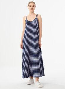 Gestreiftes Jerseykleid aus Bio-Baumwolle und Leinen - ORGANICATION