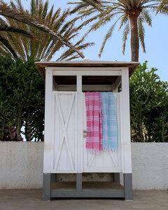 Hamamtuch Ibiza in verschiedenen Farben mit schönem Fischgrät Muster. - Hamam Originals