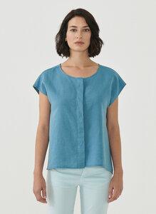 Bluse aus Leinen und Bio-Baumwolle - ORGANICATION