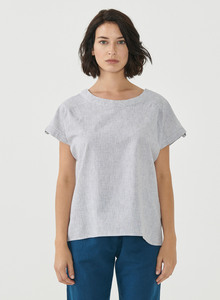 Bluse aus Bio-Baumwolle und Leinen - ORGANICATION