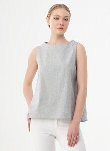 Ärmellose Bluse aus Bio-Baumwolle - ORGANICATION