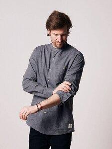 Schawola Striped Hanf Hemd Blau - bleed