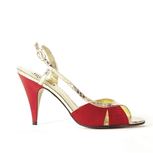 Georgie Red Faux Suede - Beyond Skin