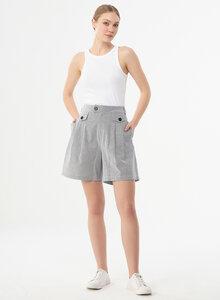 Shorts aus Bio-Baumwolle mit Streifenmuster - ORGANICATION