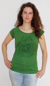 Bambus-T-Shirt mit Biobaumwolle Rose - Peaces.bio - EarthPositive® - handbedruckt