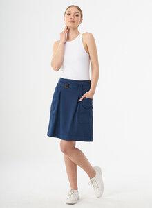 Minirock aus Bio-Baumwolle mit Gürtel und Schanelle - ORGANICATION