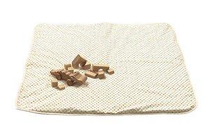 Lotties Baby Krabbeldecke aus Bio Baumwolle bunte Punkte 100 x 100 cm - Lotties