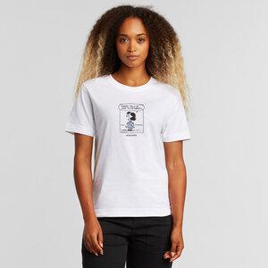T-Shirt aus Bio Baumwolle - Mysen Lucy Nobody White - DEDICATED