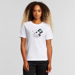 T-Shirt aus Bio Baumwolle - Mysen Snoopy Flags White - Weiß - DEDICATED