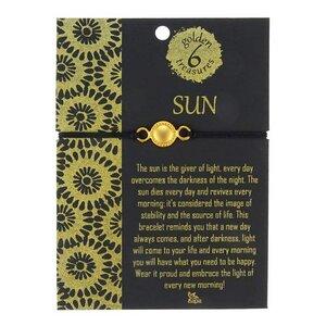 Armband Six golden treasures, 24 Karat vergoldet - CONTIGO Fairtrade